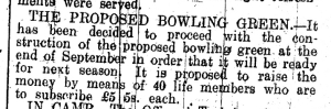 bowls history 17 July 1930