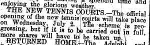 bowls history 19 June 1930