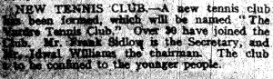 bowls history 24 July 1930