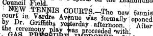 bowls history 3 July 1930