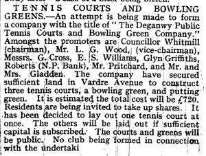 bowls history May 22 1930