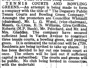 bowls history May 22 1930